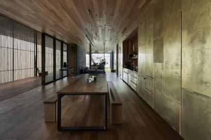 Diseño de interiores rústicocon madera y hormigón