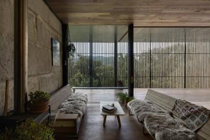 Diseño de muebles de madera rústico para sala