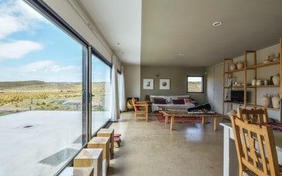 Diseño de sala comedor casa rural