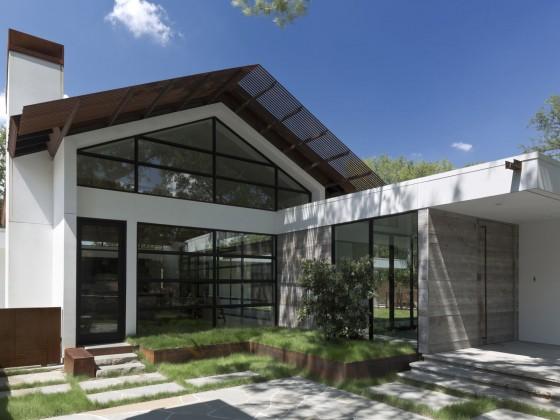 Fachada casa moderna una planta