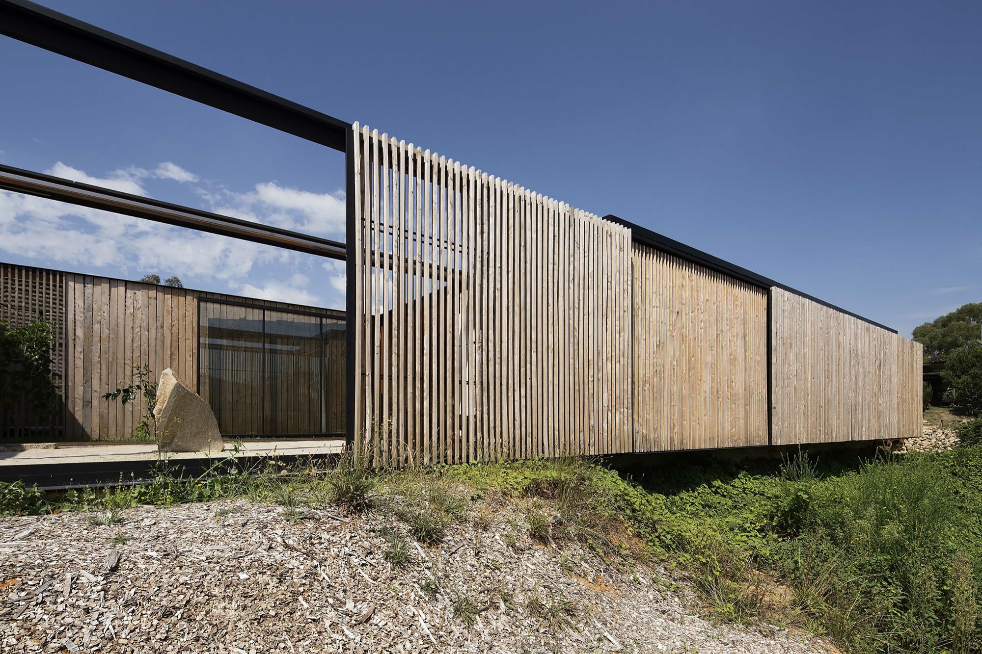Original casa de campo un piso construye hogar - Varillas de madera ...