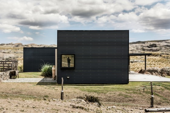 Fachada perfil casa de campo