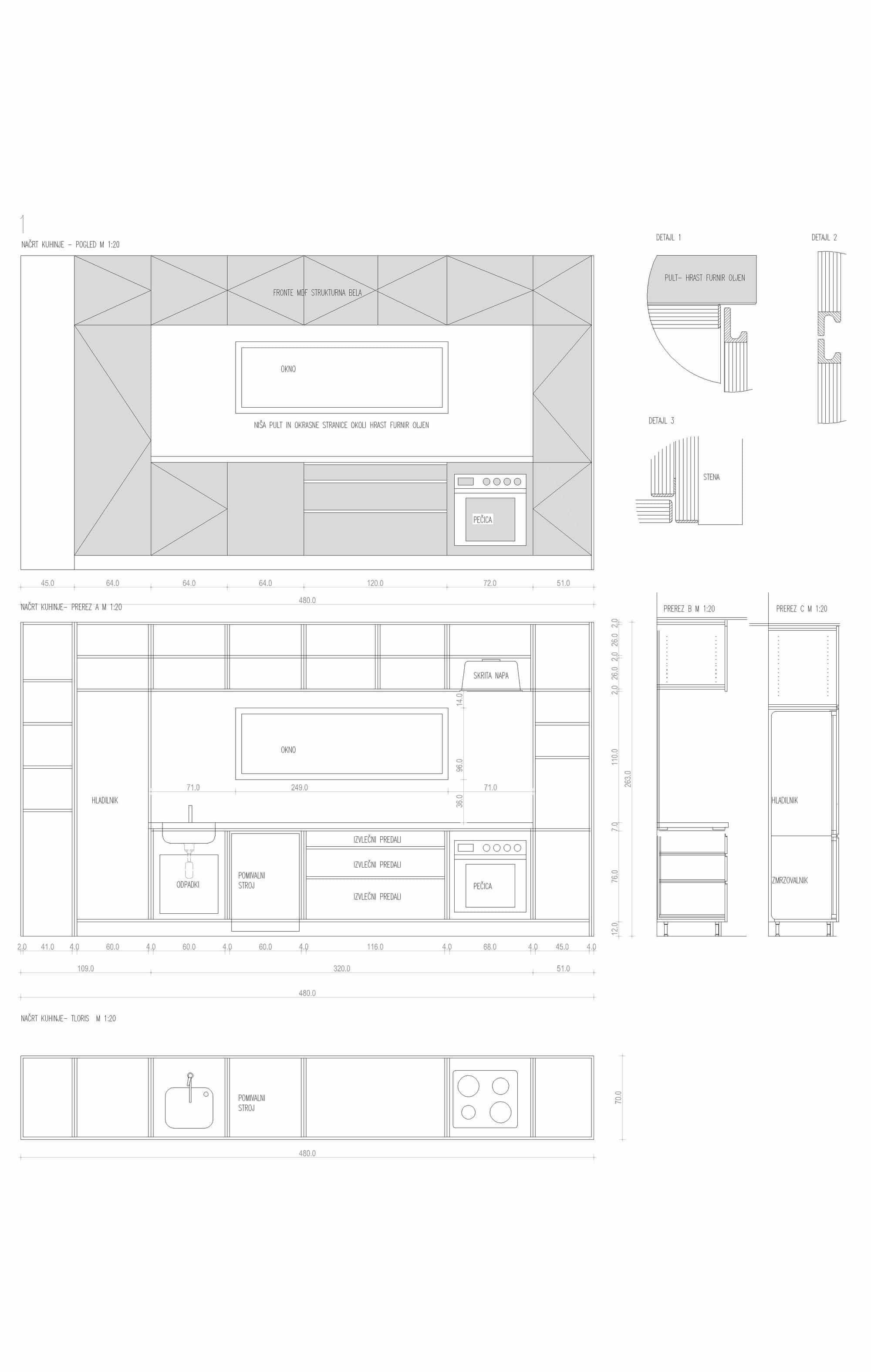 Medidas para construir muebles de cocina for Medidas para muebles