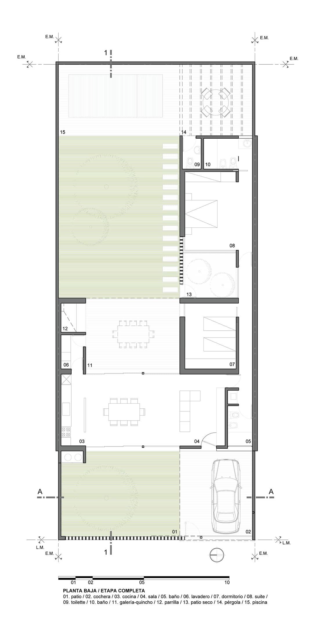 Casa de un piso y dos dormitorios construye hogar for Plano casa minimalista 2 dormitorios