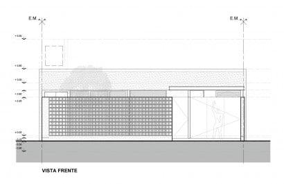 Plano fachada casa una planta