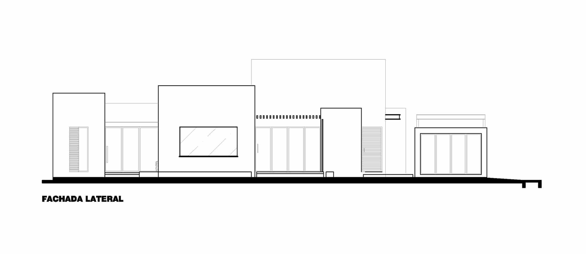 Plano de fachada lateral moderna casa construye hogar for Casas modernas planos y fachadas