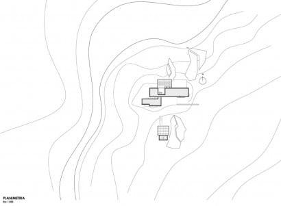 Plano de ubicación de casa rural un piso