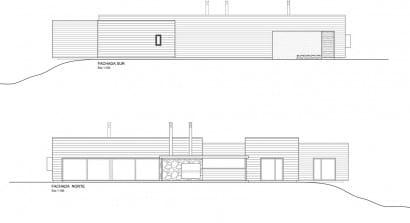 Planos de elevación casa de campo