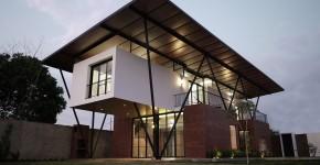 Diseño casa moderna de dos pisos