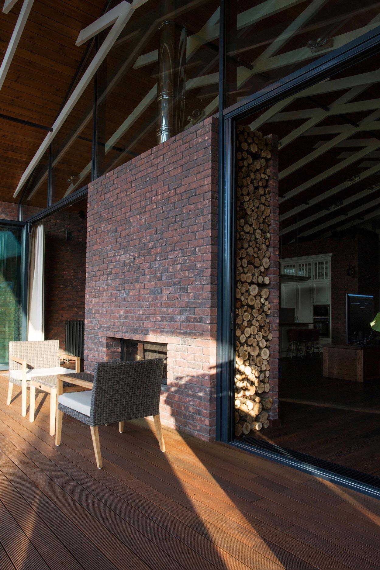 Dise o de chimenea con ladrillos caravista construye hogar - Construye hogar ...