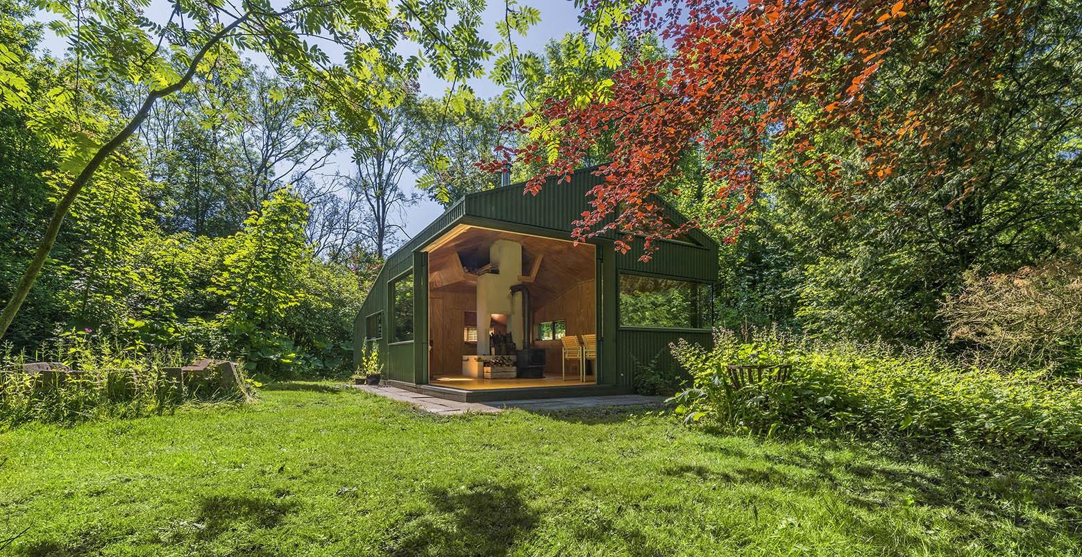 Dise o de caba a peque a de 35 metros cuadrados - Cabanas modernas ...