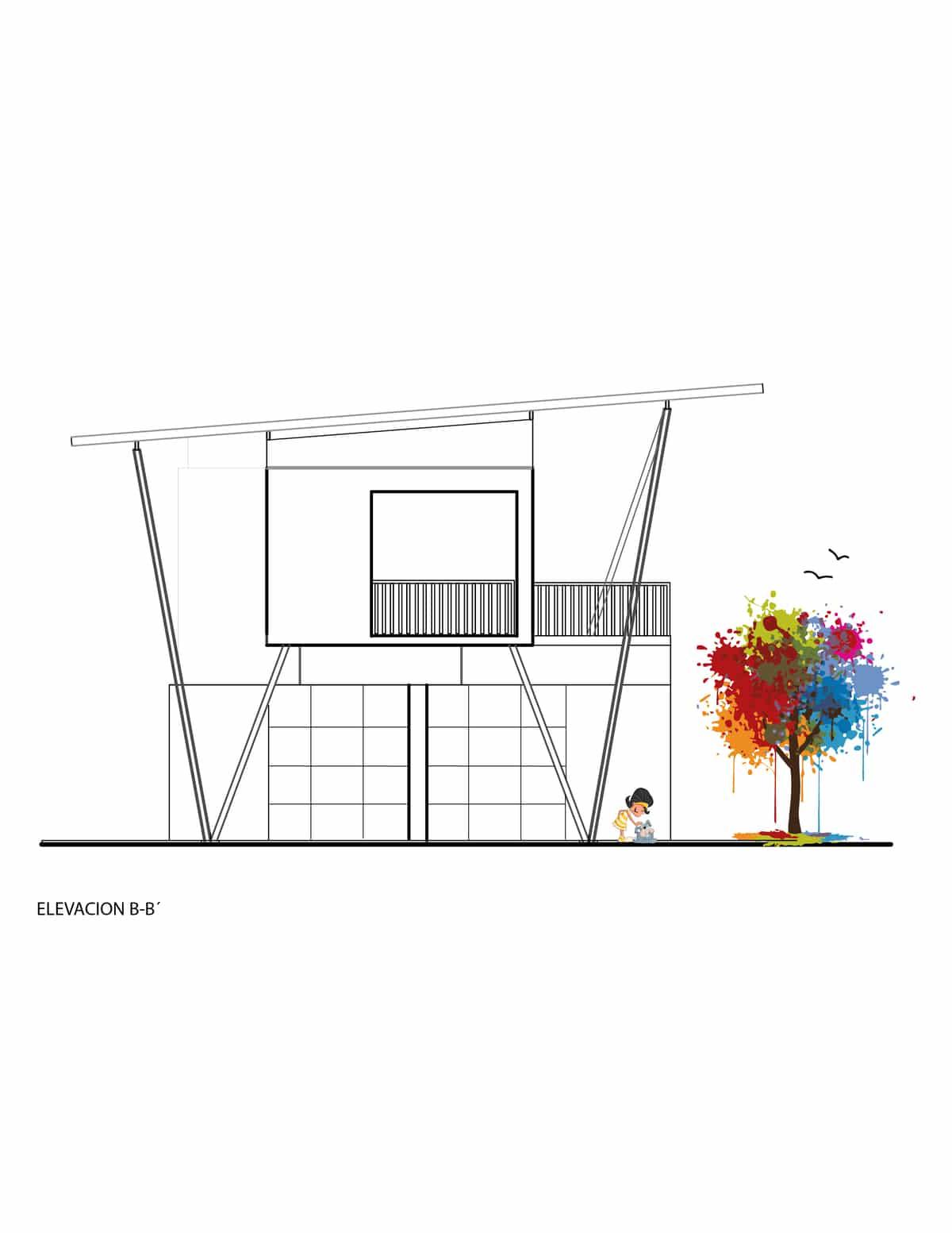 Plano de fachada lateral casa de dos plantas construye hogar - Fachada de casas de dos plantas ...