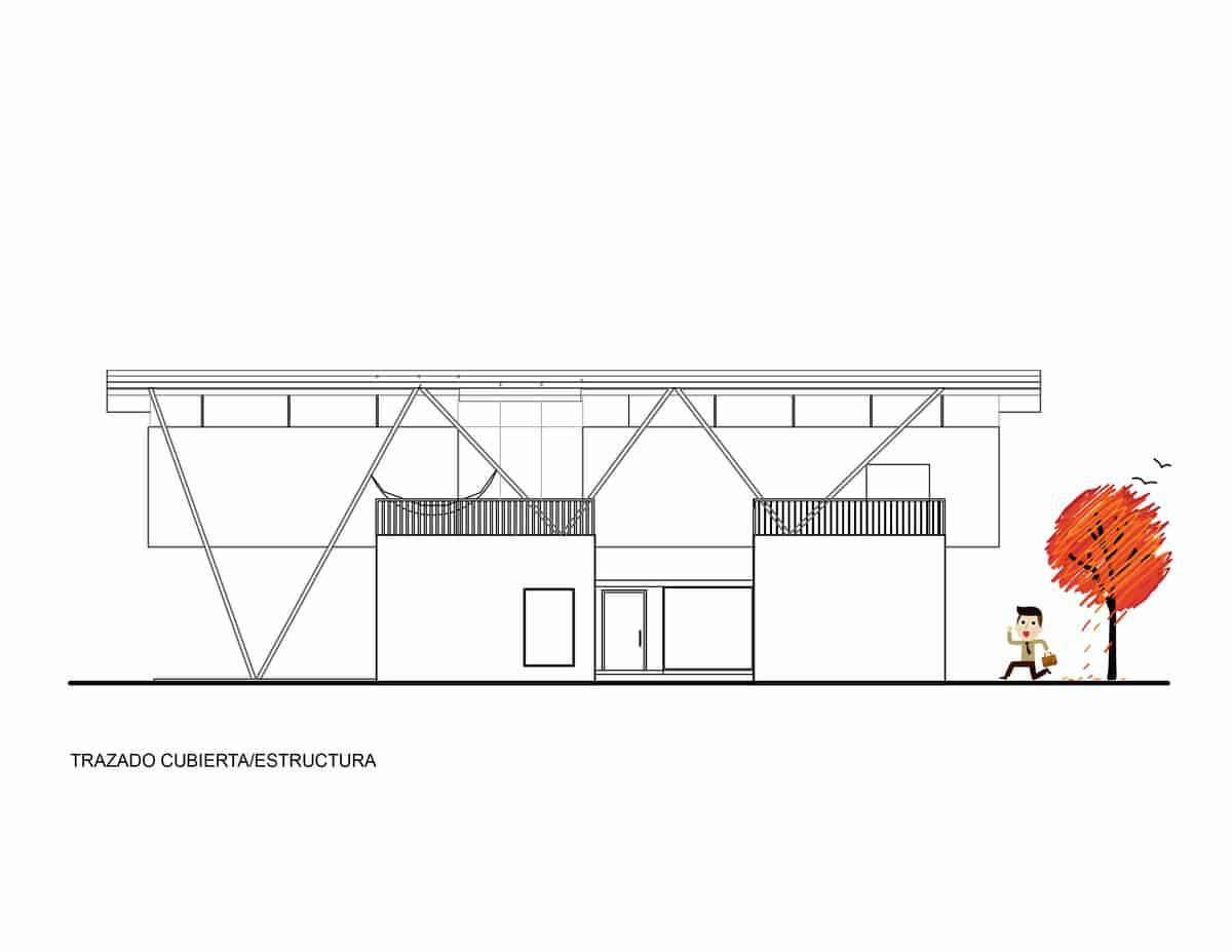 Plano de trazados de cubierta y estructuras construye hogar for Planos de estructuras