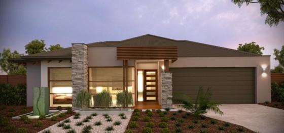 Casa contemporánea de un nivel