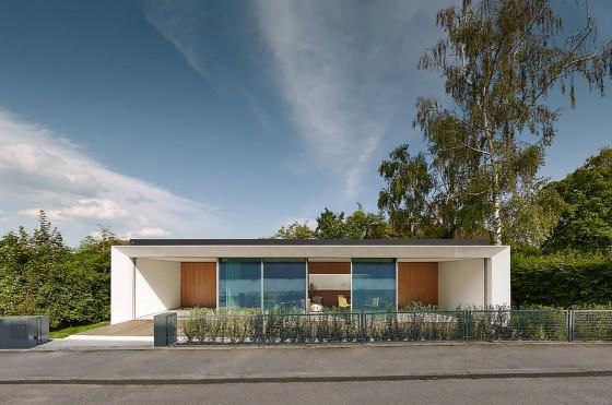 Diseño de casa de un piso prefabricada segura