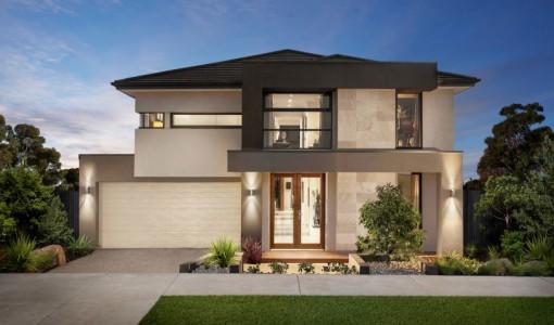 Casa moderna de dos plantas construyehogar.com