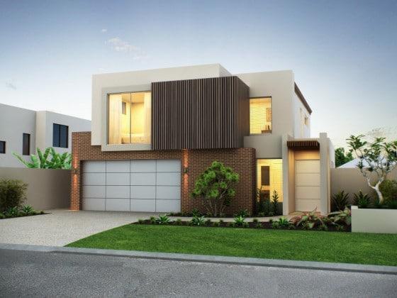 Hermosa casa moderna de dos pisos