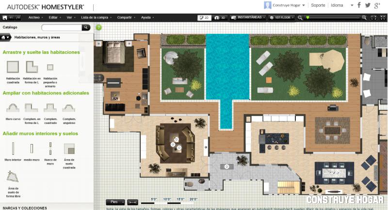 Homestyler planos de casas gratis construye hogar for Hacer planos gratis