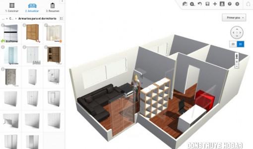 Planos construye hogar for Programa para disenar habitaciones en 3d