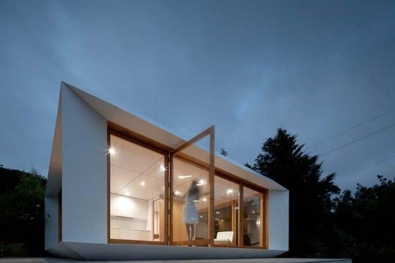Pequeña casa prefabricada de un piso