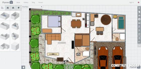Planner 5D aplicación web planos de viviendas