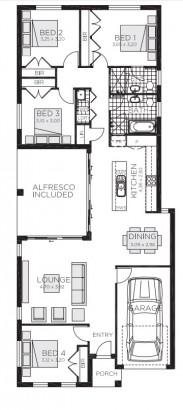 Plano casa pequeña moderna