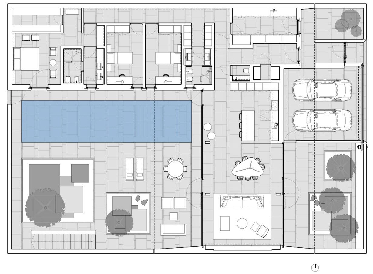 Plano de casa de un piso en forma de l construye hogar - Planos d casas d un piso ...