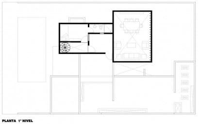 Plano dormitorio en segundo piso