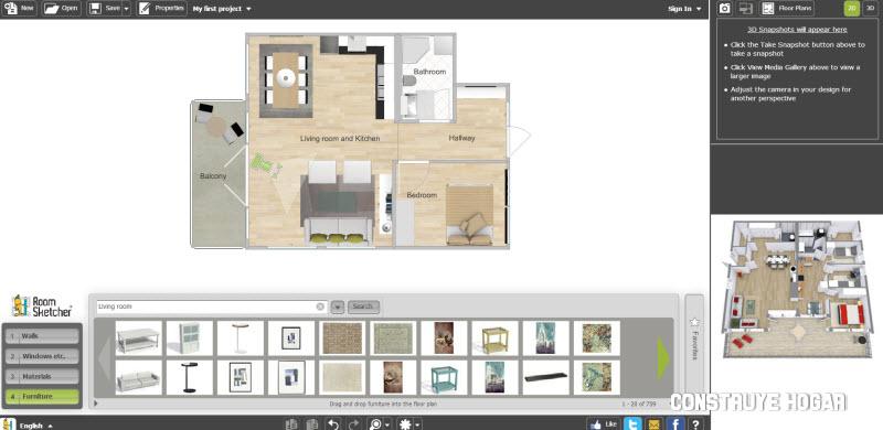 Roomsketcher app para planos online construye hogar - App diseno casas ...