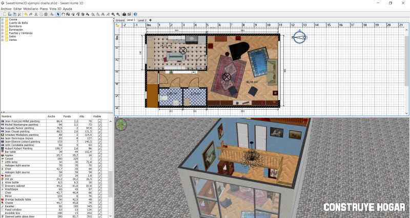 Sweethome 3d programa planos de casas construye hogar for Crear planos de casas 3d