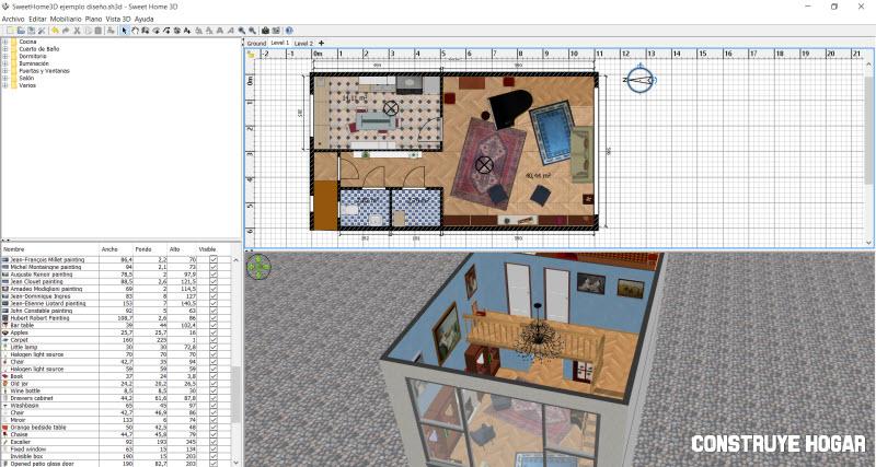 Sweethome 3d programa planos de casas construye hogar for Hacer planos online