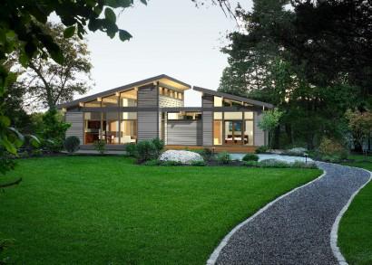 Diseño de casa de campo pequeña Lindal Cedar Homes