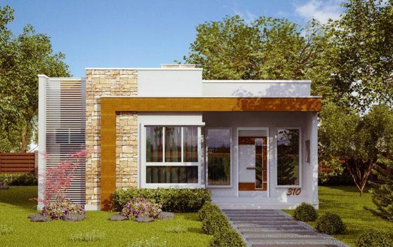 Ideas para casas en terrenos peque os construye hogar for Casa moderna un piso