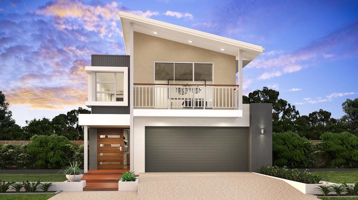 Ideas para casas en terrenos peque os construye hogar for Casas modernas fachadas de un piso
