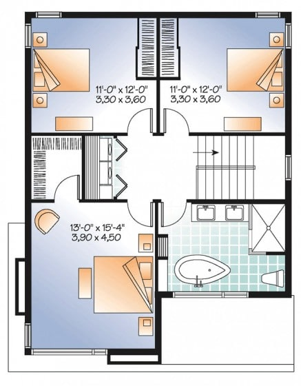 Plano casa construida terreno pequeño 2