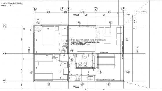 Plano casa de campo de 67 metros cuadrados