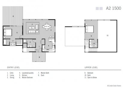 Plano casa pequeña dos dormitorios
