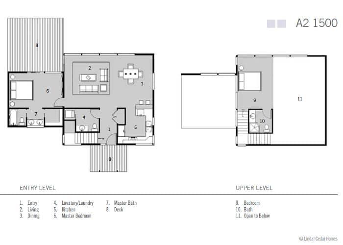 Ideas para casas en terrenos peque os construye hogar Planos de dos dormitorios