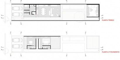 Planos de casa pequeña y angosta