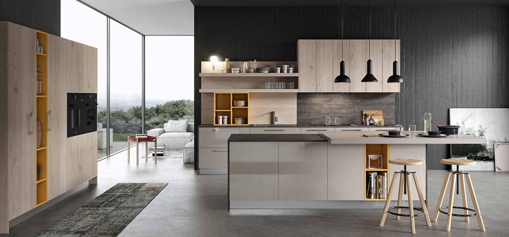 Ideas y dise o de cocinas modernas construye hogar for Casas con cocinas modernas