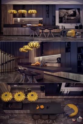 Diseño de cocina con estilo y arte Anna Fedyukina