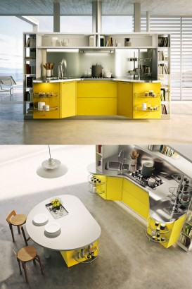 Diseño de cocina moderna con isla snaidero.com