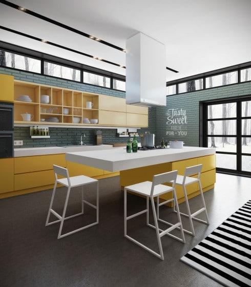 Idea cocina moderna de diseño juvenil