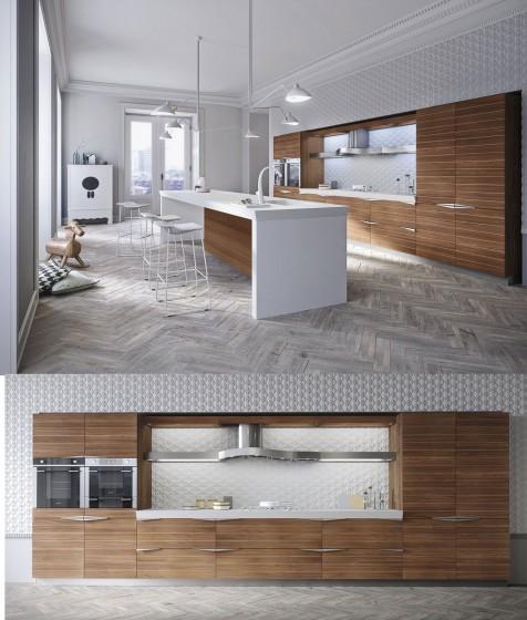 Idea de mueble de cocina moderna