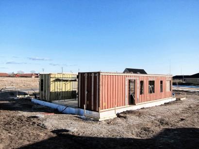 Construcción de casas recicladas