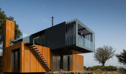 Diseño casa recicladas moderna