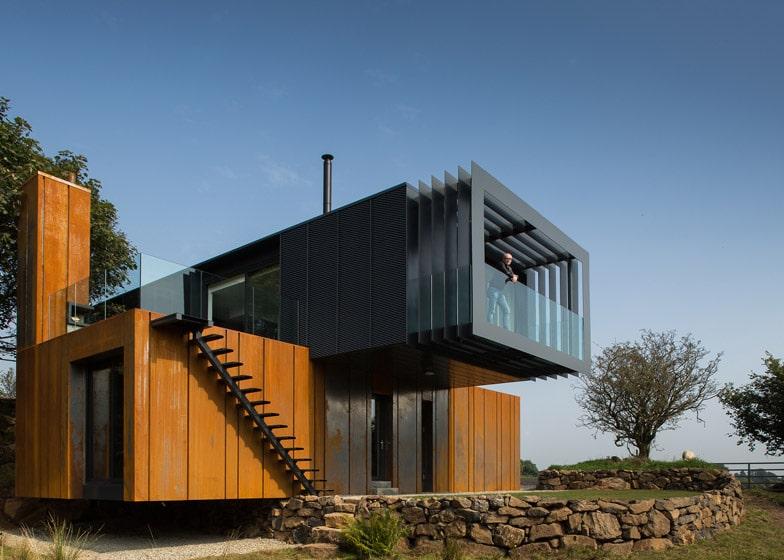diseo casa recicladas moderna de dos pisos