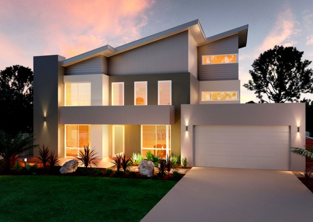 Planos de casas de dos pisos modernas construye hogar for Casas modernas techos inclinados