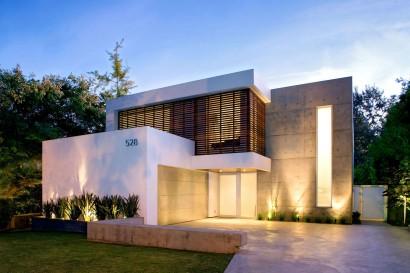 Fachada de casa modernas de dos pisos Diseño y fotos Steven Kent Architect