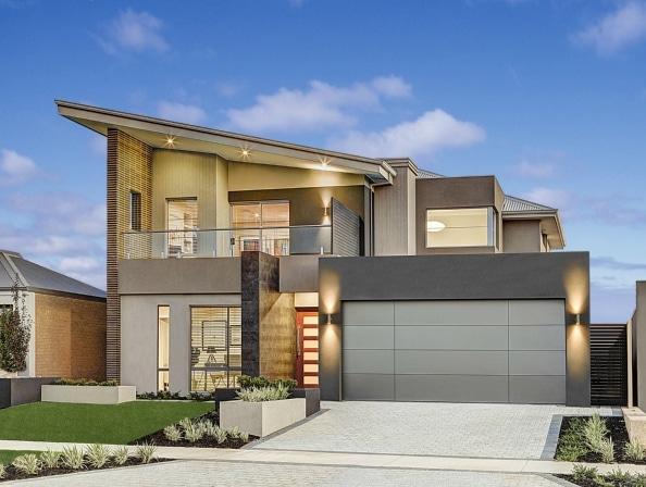 Planos de casas de dos pisos modernas construye hogar Fachadas para casas de dos plantas